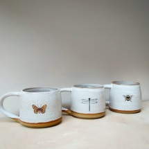 mugs with linocut prints